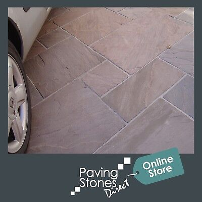 Raj Green Blend 19.5m2 Budget Patio Pack Indian Sandstone Paving Slabs Flags • 4.99£