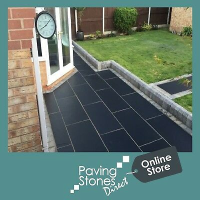Black Limestone Large 1200x600 Indian Stone Paving Slabs Flags Hearths Fireplace • 145£