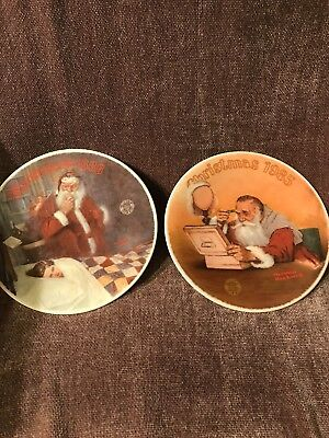 $ CDN30.33 • Buy 2 Norman Rockwell Christmas Porcelein Plates; 1985 & 1986