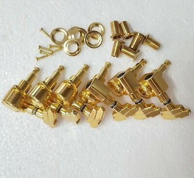 $ CDN31.57 • Buy Golden 3L3R Guitar Tuning Pegs Machine Heads Tuners For Acoustic Electric Guitar