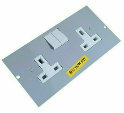 10x Legrand Floor Box Compartment 13A Twin 2G Switched Socket Plate Cavity 75mm  • 74.95£