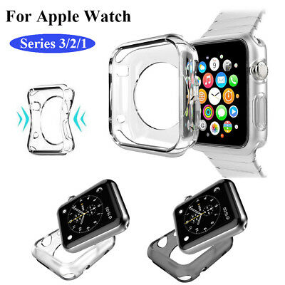 $ CDN2.49 • Buy Apple Watch Series 3/2/1 Case Cover Protector TPU Rubber Bumper IWatch 38MM/42MM