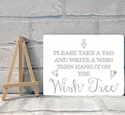 £8.95 • Buy A5 Metal Wishing Tree Guest Book Sign - Wedding Christening Baptism Party