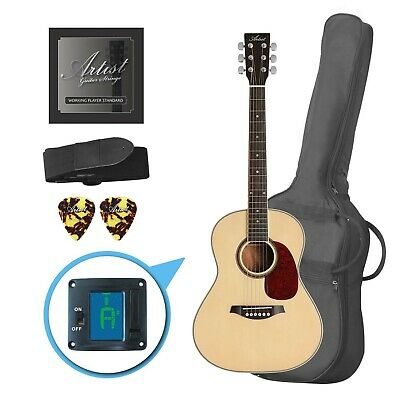 AU159 • Buy Artist LSP34 3/4 Size Beginner Acoustic Guitar Pack - Gloss Natural - New