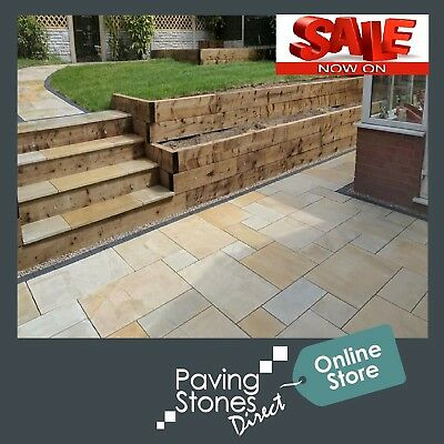 Smooth Sawn Indian Sandstone Patio Paving Slabs 4 COLOURS - UK Home Delivery* • 28.33£