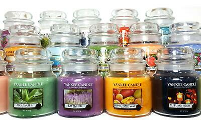 Yankee Candle Medium Jar New Fragrances -Christmas Gift Idea - Mum - Free Votive • 17.99£