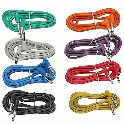 $ CDN34.23 • Buy 8 PACK 3 Ft Foot RIGHT ANGLE 1/4  Guitar Instrument To Effect Pedal Patch Cables