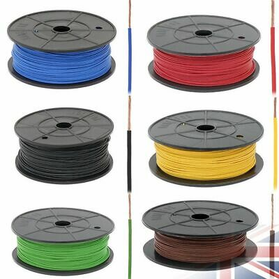 1mm 1.5mm 2.5mm 12V Thinwall Single Core Automotive Auto Marine Cable Wire Metre • 2.29£
