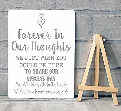 A5 Metal Wedding Memory Memorial Remembrance Table Sign Plaque • 8.95£