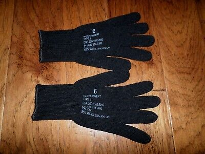 $9.99 • Buy U.s Military Style D3a Cold Weather Glove Liners 85% Wool 15% Nylon Size X-large
