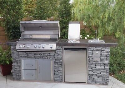 $6199.99 • Buy Urban Islands 5-burner Deluxe Faux Rock Island Grill W/Propane SHIP FROM FACTORY