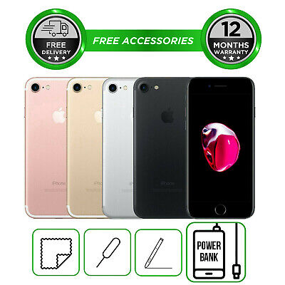 View Details Apple IPhone 7 32GB 128GB 256GB Smartphone Unlocked All Colours • 208.99£