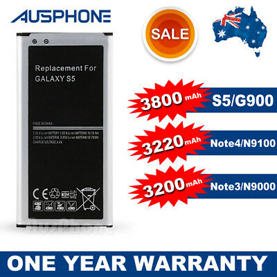 AU9.45 • Buy 3800mAH Premium Quality New Battery Replacement For Samsung Galaxy Note 3 4 S5