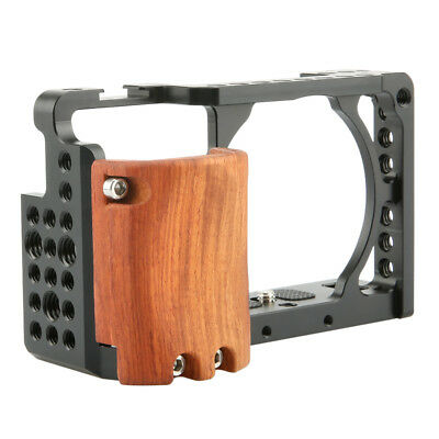 $ CDN59.15 • Buy NICEYRIG Camera Cage With Wooden Handgrip / Cold Shoe Mount For Sony A6400 A6300