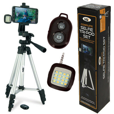 £19.95 • Buy Ngt Fishing Selfie Tripod Camera Set Remote And Light Carp Fishing Pod Stand