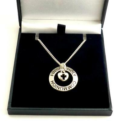 First Holy Communion Necklace. Gift For A Girl On Her First Holy Communion Day. • 8.99£