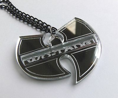£14.45 • Buy Wu Tang Clan Necklace Laser Cut Engraved Mirror Plastic