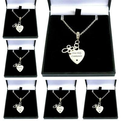 Personalised First Holy Communion Necklace. Gift For Special Girl, Daughter Etc • 19.99£