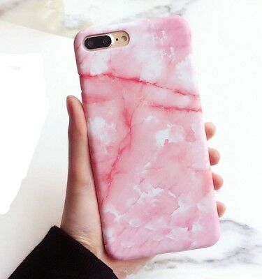 AU12.85 • Buy IPhone 8 Plus Pink Marble Granite Texture Case High Quality Gel Rubber New