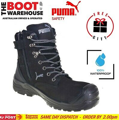 AU181.95 • Buy Puma Conquest BLACK 630737. Safety Work Boot. Zip Side, 100% WATERPROOF BOOT