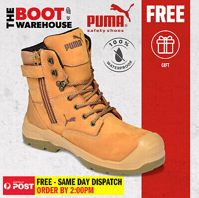AU181.95 • Buy Puma Conquest WHEAT 630727. Safety Work Boot. Zip Side, 100% WATERPROOF BOOT