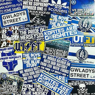 100 X Everton Stickers Inspired By Toffees Shirt Scarf Badge Flag 1878 Poster • 12.99£