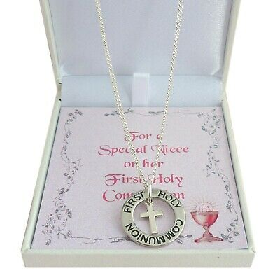 Girls Necklace For First Holy Communion Day, Special Gift Box For Daughter Etc • 11.99£