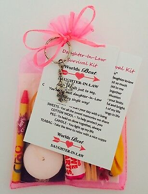 Daughter-In-Law Survival Gift Kit With Keyring Gift/Present • 5.95£