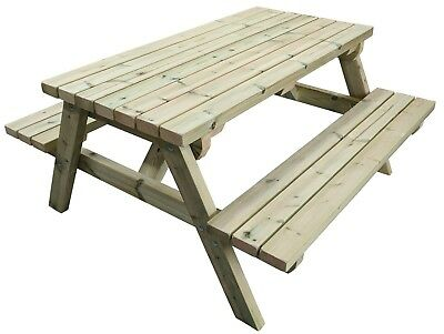 Wooden Picnic Table / Commercial Pub Bench / Garden Picnic Table Bench • 240£