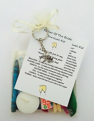 Father Of The Bride Survival Gift Kit With Keyring Gift/Present • 5.95£