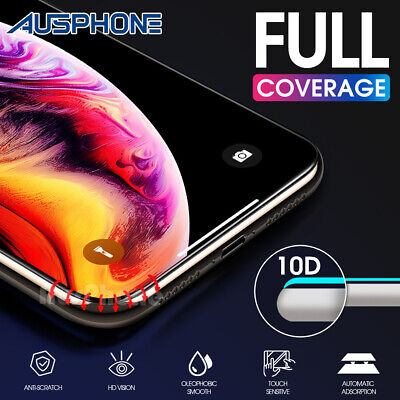 AU7.95 • Buy IPhone 11 Pro X XS Max XR 10D FULL Cover Tempered Glass Screen Protector Apple
