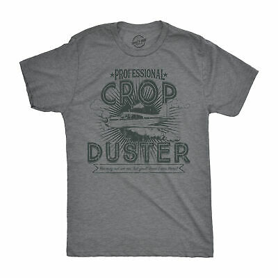 $13.59 • Buy Mens Professional Crop Duster T Shirt Funny Sarcastic Humor Farting Tee For Guys