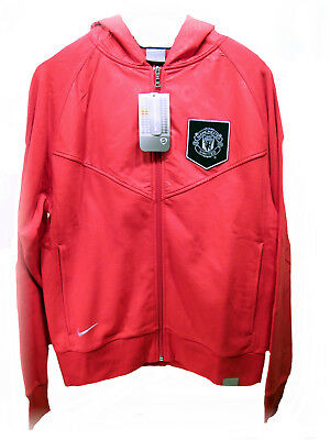 New NIKE MANCHESTER UNITED Football Club Vintage HOODIE JACKET Red  XL • 59.99£