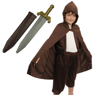 £10.99 • Buy Boys Hobbit Costume World Book Day Fancy Dress Outfit Kids Mythical Character