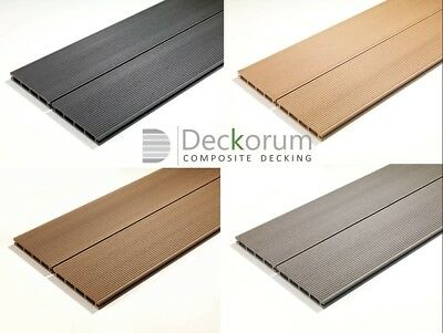 Composite Decking Charcoal 36 Square Meter Pack incl. fixings and screws