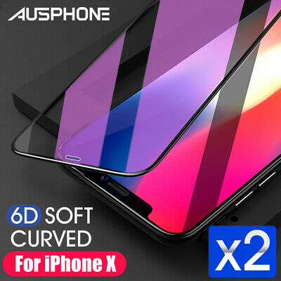 AU4.95 • Buy 2x 6D Full Phone 11 Pro XS Max XR 8 7 Plus Screen Protector Tempered Glass Apple