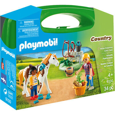 Playmobil Country Horse Grooming Carry Case 9100 NEW • 8.80£