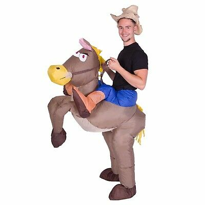 $29.99 • Buy Adult Mens Womens Inflatable Cowboy Ride Me Carry On Costume Halloween One Size