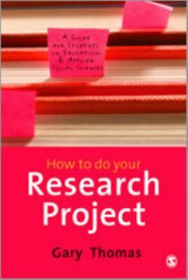 £4.02 • Buy How To Do Your Research Project: A Guide For Students In Education And Applied