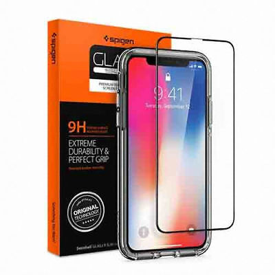 AU38.30 • Buy SPIGEN Apple IPhone X Premium Full Cover Tempered Glass FILM 1PCS - Tracking-