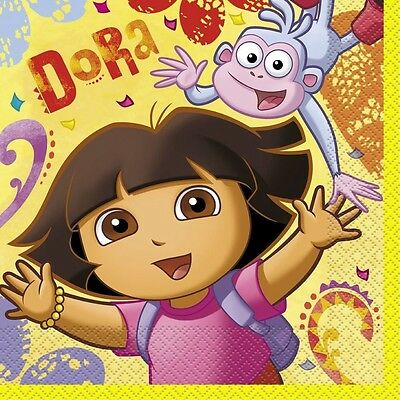 DORA THE EXPLORER  BOOTS Birthday Party Supplies Large Luncheon NAPKINS  • 2.39£