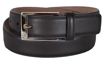 bfd8b7b4086 New Gucci Men s 345658 Chocolate Brown Smooth Leather GG Buckle Belt •  152.10