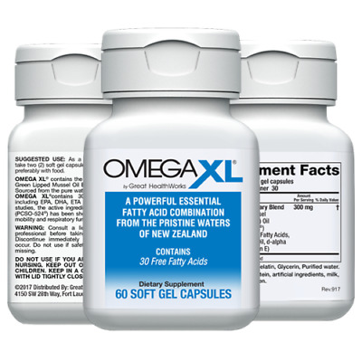 View Details Omega XL 60ct By Great HealthWorks: Small, Potent, Joint Pain Relief - Omega-3 • 37.00$