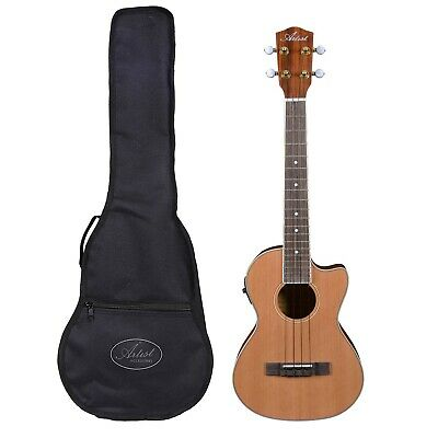 AU249 • Buy Artist UKT150CEQ Tenor Ukulele, Solid Top + Cutaway, EQ And Bag - New