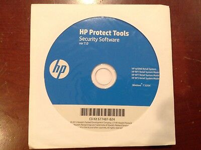 NEW Windows 7  Genuine HP  DVD Blue Protect Tools Security Software 7.0  • 7.12£