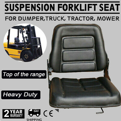 AU86 • Buy Forklift Seat Multi Adjust Leather Seat For Bobcat Tractor Excavator Machinery 1
