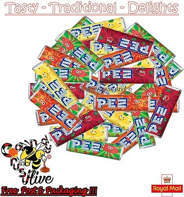 Pez Fruit Candy Refills Mix Flavours Sweets For Pez Dispenser Boiled Fruit Retro • 5.47£