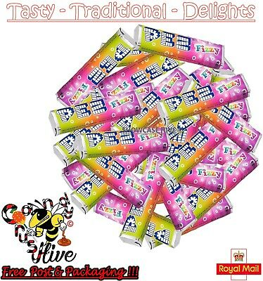Pez Fizzy Fruit Candy Refills Mix Flavours Sweets For Pez Dispenser Boiled Retro • 5.47£