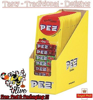 Packs Of 8 Pez Sweets Refills 1 2 4 6 8 18 Fruit Flavour Sweets For Dispenser • 6.47£