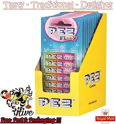 Packs Of 8 Pez Sweets Refills 1 2 4 6 8 18 Fizzy Flavour Sweets For Dispenser • 2.47£
